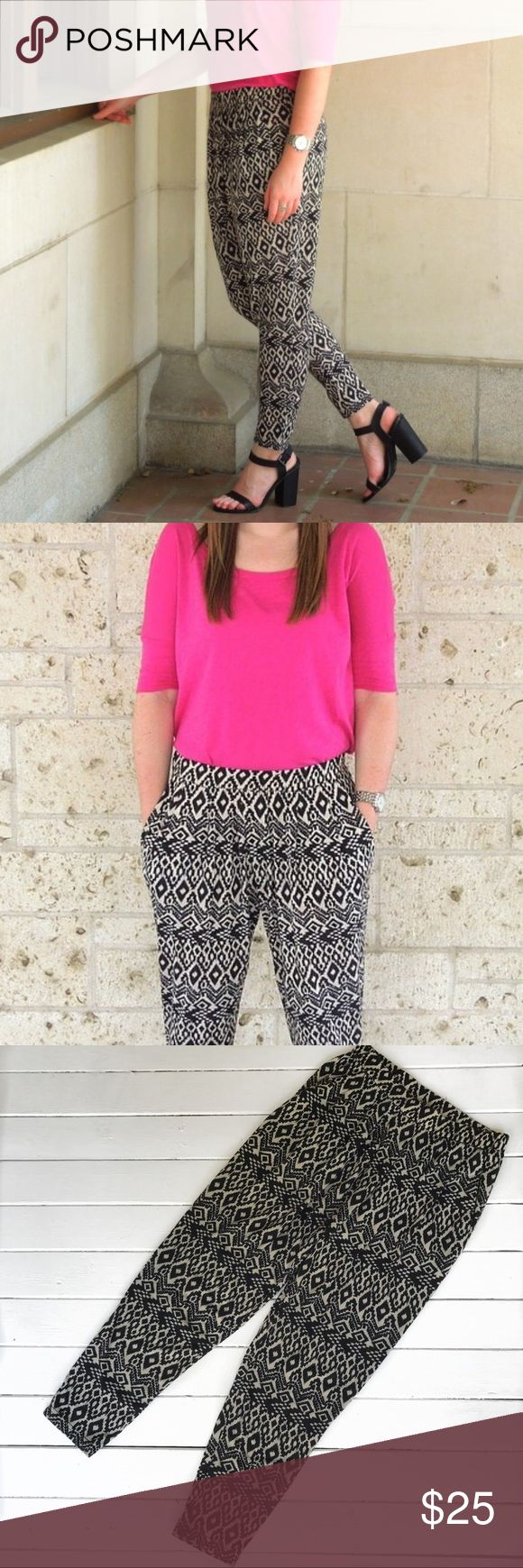 Anthropologie Printed Pants Soft fabric with an Aztec print. Perfect for any season! Anthropologie Pants Track Pants & Joggers
