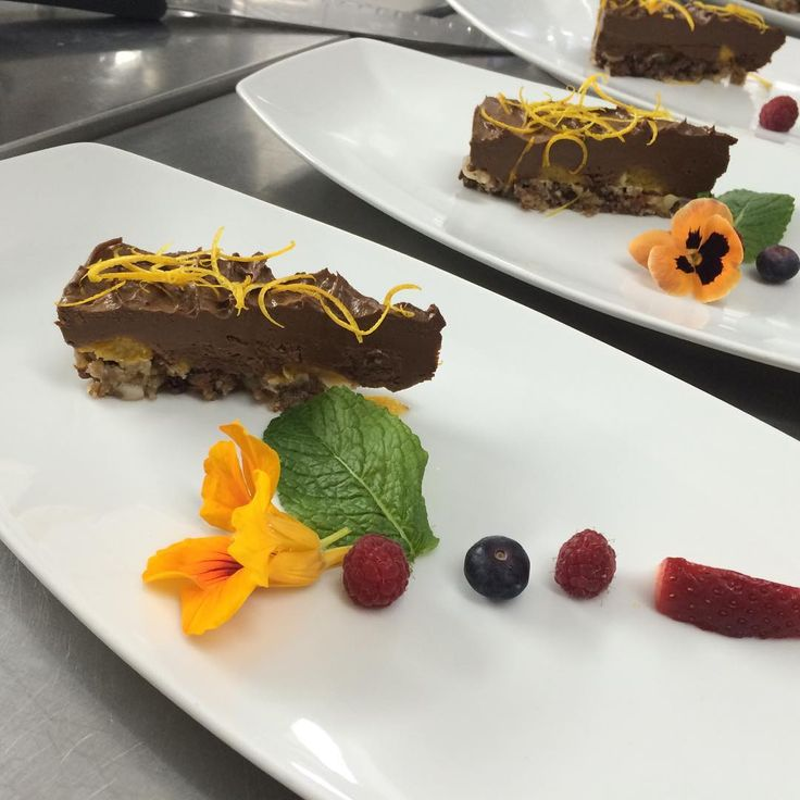 Orange Cinnamon Cacao Cake. Dessert at the raw food retreat @vivenda_miranda  by Radiant on Raw