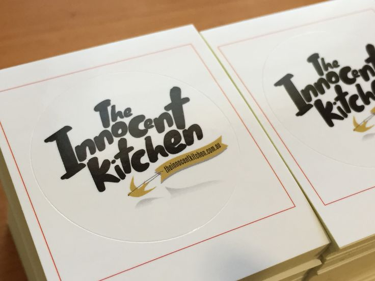 Simple round labels for the innocent kitchen.