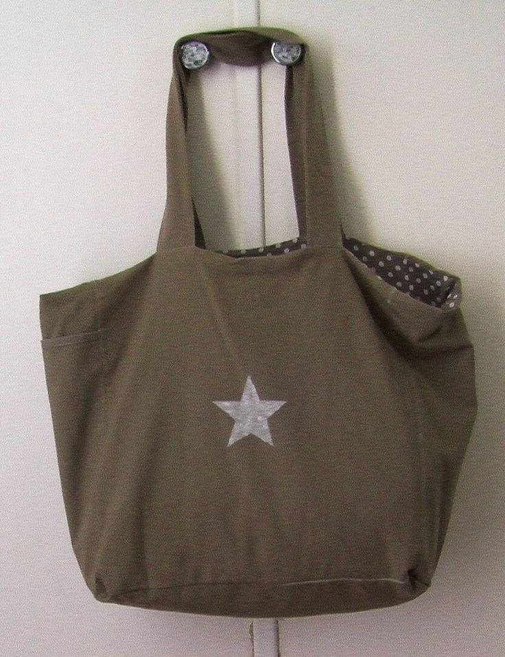 grand sac cabas pour shopping sac de sport accessoire de. Black Bedroom Furniture Sets. Home Design Ideas