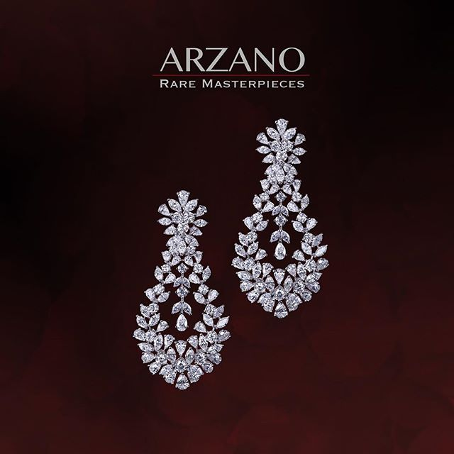 #Arzano #raremasterpieces #diamonds #diamondearrings #unique #diamondsforever #lustrous #exquisite #scintillating #makeastatement