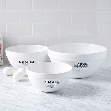 *actual* Utility Mixing Bowl Set #westelm