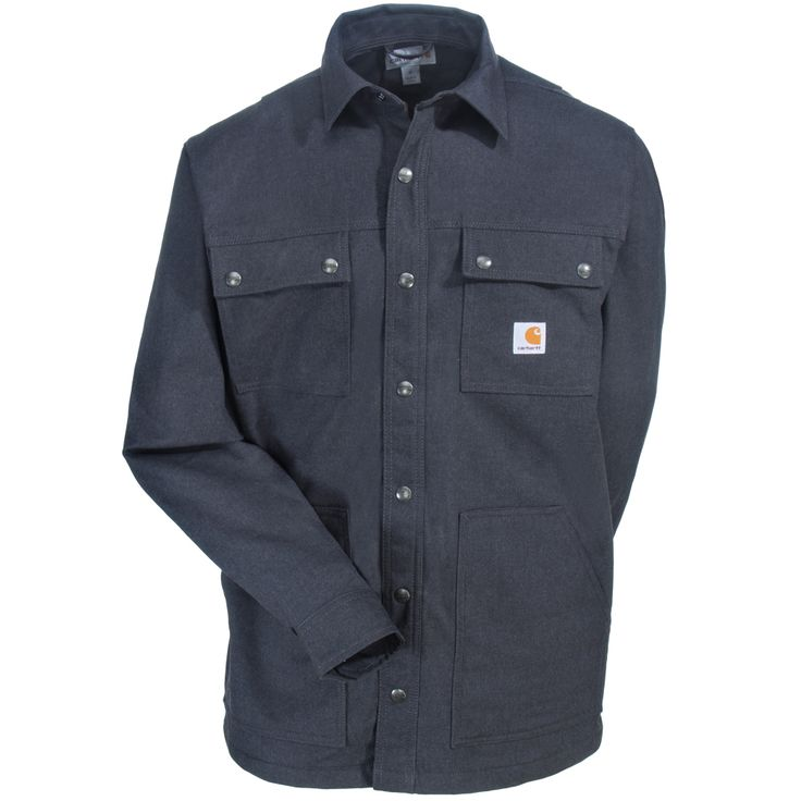 Carhartt Clothing Men's 101751 029 Grey Water-Repellent Full Swing Overland Shirt Jacket