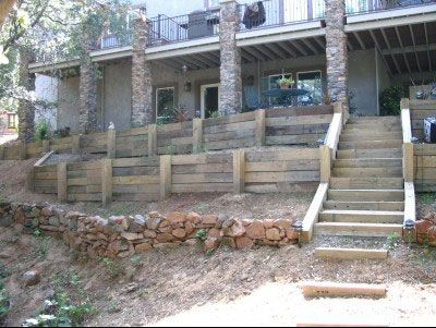 Retaining Wall Backyard Garden Retaining Wall Railroad