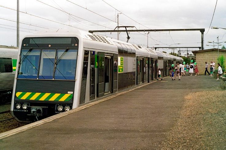 The Met Double Decker Train from 1992 at Pakenham.  Photo by Andrew Green and courtesy of VicSig