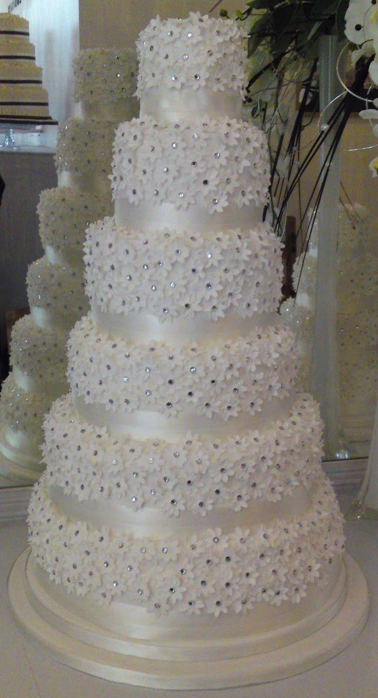 Daisy Hill Cakes Six Tier Diamond Cake Cakepins Wedding Cakesdiamond Cakepearl