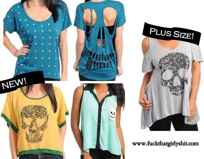 Affordable skull clothes from www.fuckthatgirlyshit.com