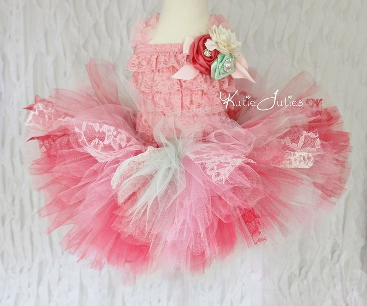 Vintage Lace Shabby Chic Tutu Skirt Romper Headband by ...