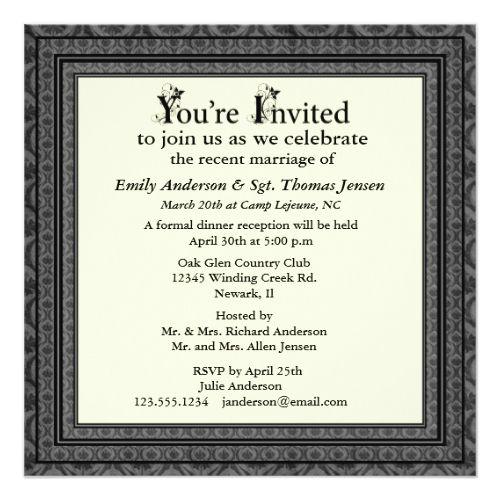 7 best Wedding images on Pinterest Invitation ideas, Wedding - invitation wording ideas for dinner party
