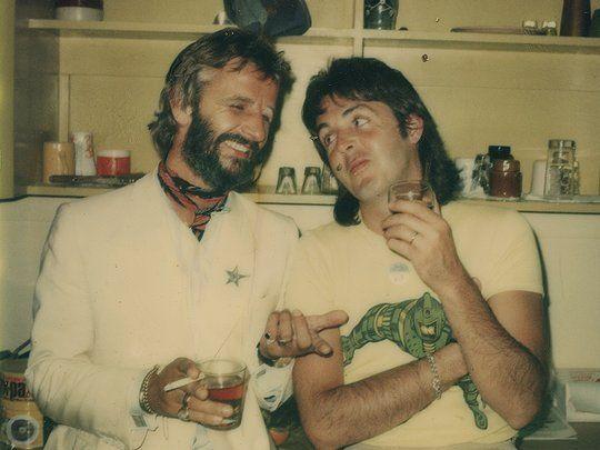 Ringo and Paul. Photo taken by Linda McCartney