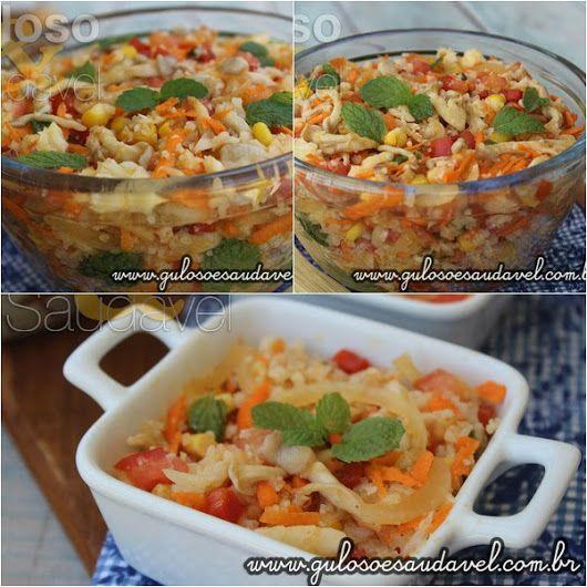 Esta Salada de Couve Flor Refrescante que além de ser refrescante, é sozinha uma nutritiva e saborosa refeição leve! #Receita aqui: http://www.gulosoesaudavel.com.br/2016/03/14/salada-couve-flor-refrescante/