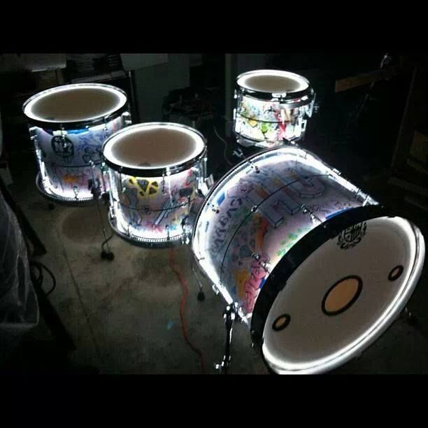 I know exactly how to do this to my drum set! Gunna give it a try!!!
