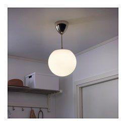 IKEA - HÖLJES, Loftlampe, , Hver lampe er unik, fordi den er lavet af mundblæst glas.Loftdækslet gør det nemt at montere lampen, for du kan trække det helt op til loftet og skjule ledninger og stik.Diffust lys, der giver god generel belysning i rummet.