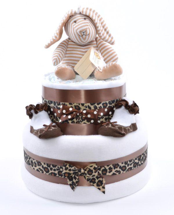 Baby Shower Cakes Cheetah Print
