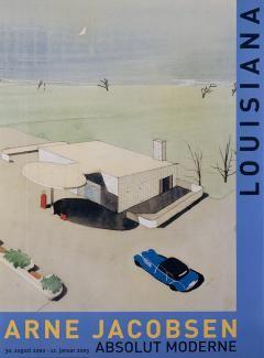 Arne Jacobsen Akvarel af Texaco Servicestation