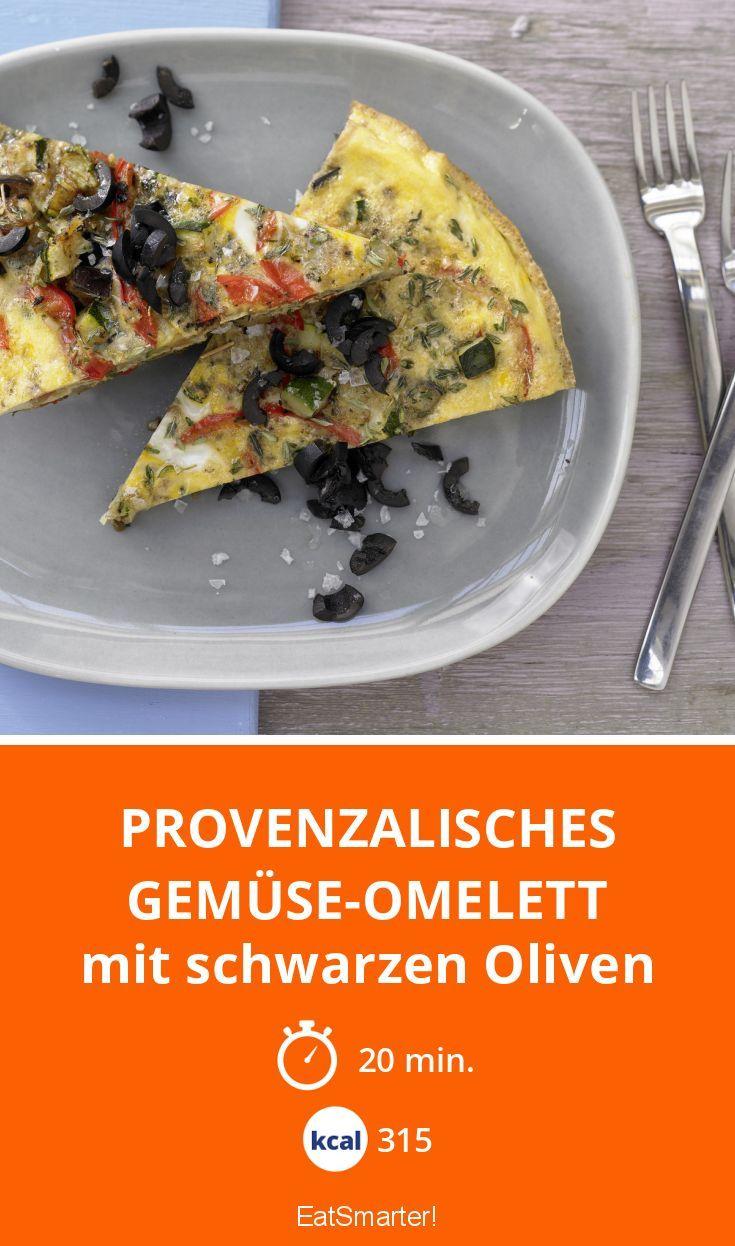 Provenzalisches Gemüse-Omelett - mit schwarzen Oliven - smarter - Kalorien: 315 kcal - Zeit: 20 Min. | eatsmarter.de