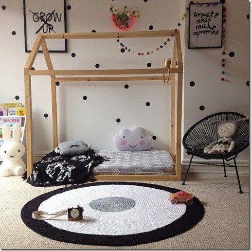 lit au sol maison