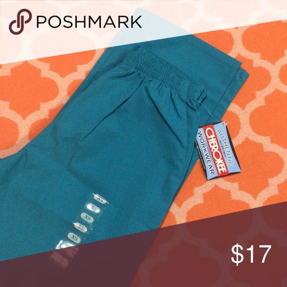 Cherokee workwear size XS teal scrub pants This is a new, with tags attached, Cherokee workwear size XS teal scrub pants with elastic waist. Fast shipping from a smoke free home. Offers and questions welcome. Thank you for looking. Cherokee Workwear Other