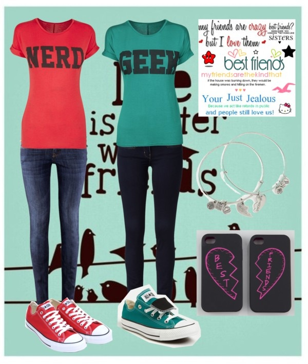 """""""Matching Best Friend Outfits ❤❤"""" by my-name-is-lily on Polyvore"""