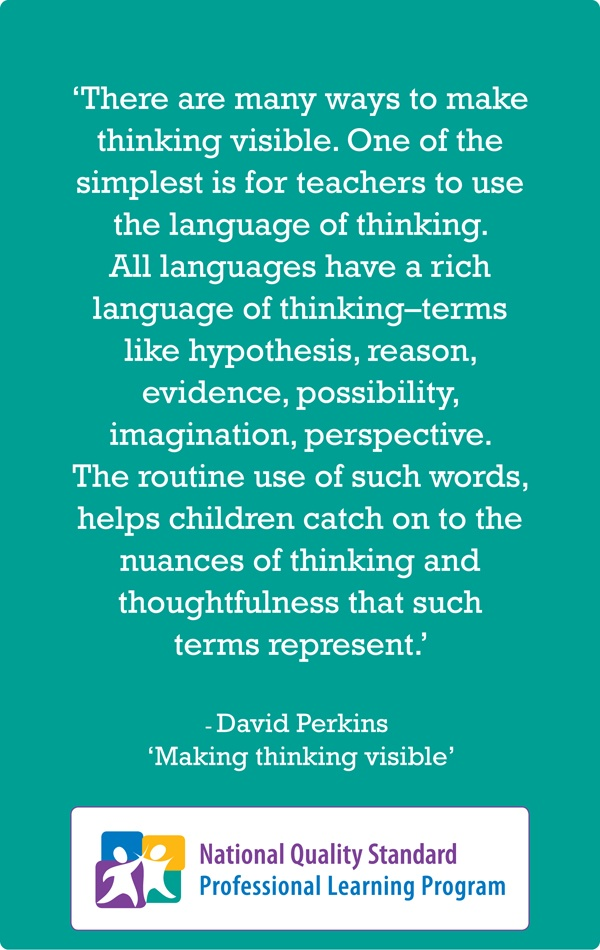 NQS PLP Thinking Practice Quote by David Perkins... Share your thoughts