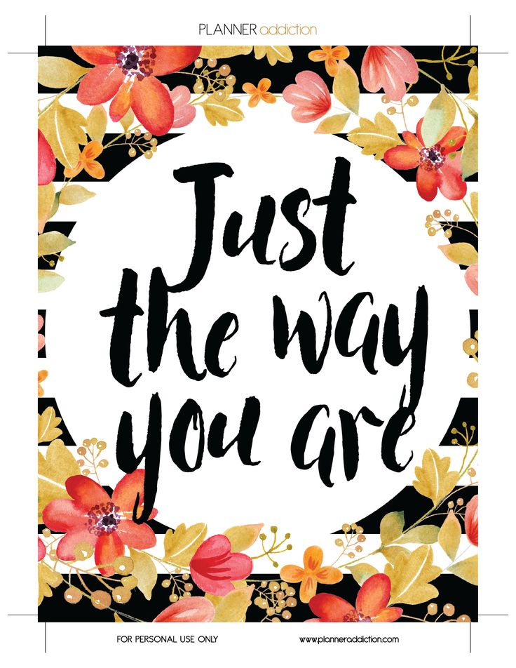 Just the way you are (Planner Addiction)