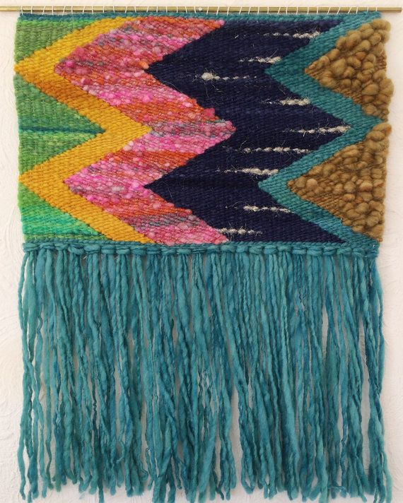 Handspun Handwoven wall hanging by filiciafibers on Etsy