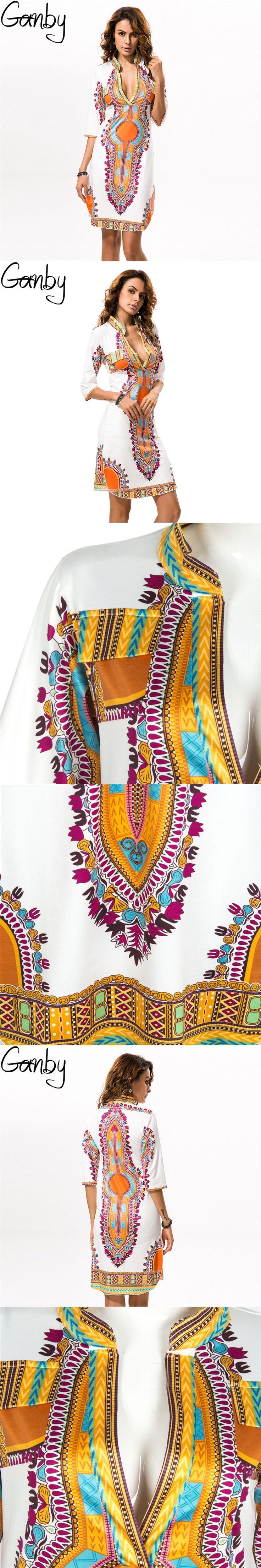 3XL Plus Size Wholesale African Clothes Dashiki Dress for Women Casual Summer Hippie Print Dashiki Fabric Femme Boho Robe Femme