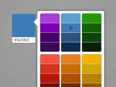 iPad-style color picker