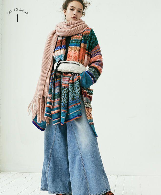 Look 1 | Inspiring Ensembles- Fall & Winter | Wrap cardigan, Free