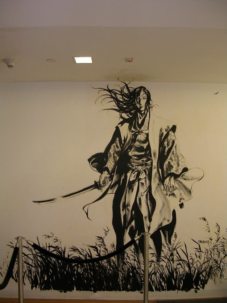 takehiko inoue samurai inspiration pinterest samourai dessin mural et murale. Black Bedroom Furniture Sets. Home Design Ideas