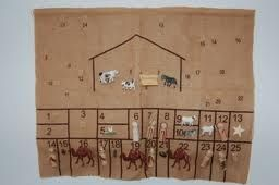 Noel Piper's advent calendar and other good ideas for teaching kids about Advent and Christ's birth.