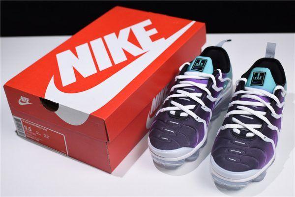 Women's Nike Air Vapormax Plus 'Grape' WhiteFierce Purple Aurora Green Black 924453 101 New Style