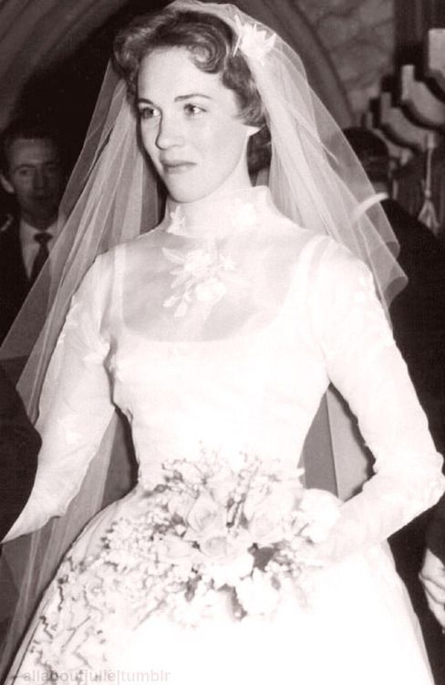Julie Andrews on her wedding day - Nov 1969! :)  She married Blake Edwards.  Their marriage lasted 41 years, until his death.