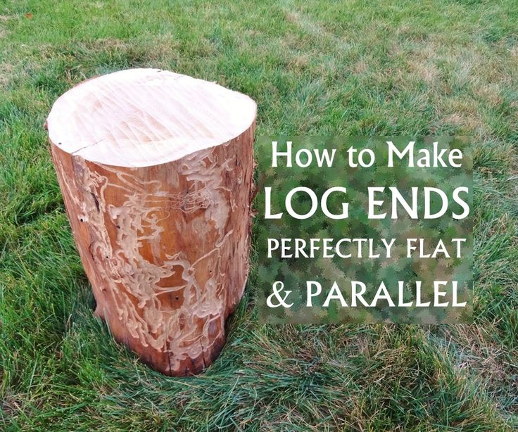 """I like to make stuff out of logs, and lately I've done a couple of projects where I needed the ends to be perfectly flat and parallel.For most log projects you could probably just use a chainsaw and get the ends close enough. However, when """"close enough"""" isn't good enough, here's the method I use. This requires some scrap plywood and basic tools like a router, drill, level, and clamps."""
