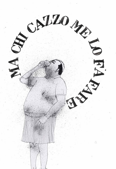 "rinuncia / give up   tullio corda's illustration   from the series ""esercizi di tanatosi"""