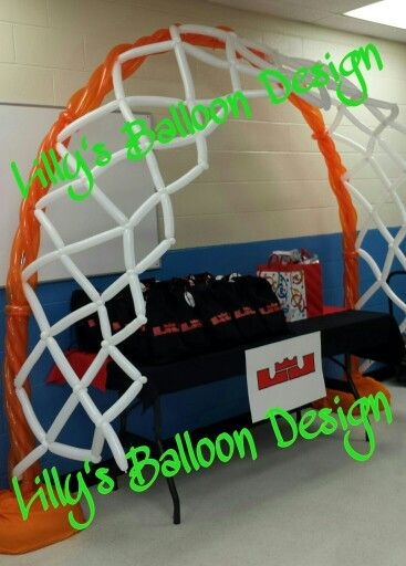 Basketball Hoop balloon arch