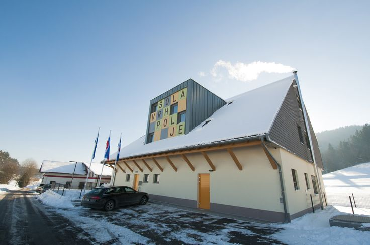 Vrhpolje primary school on the edge of scenic village. School was done in January 2015 and it was built with timber framing construction method. It meets highest energy efficiency standards.