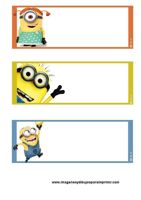 Etiquetas de minions para imprimir - Imagenes y dibujos para imprimir