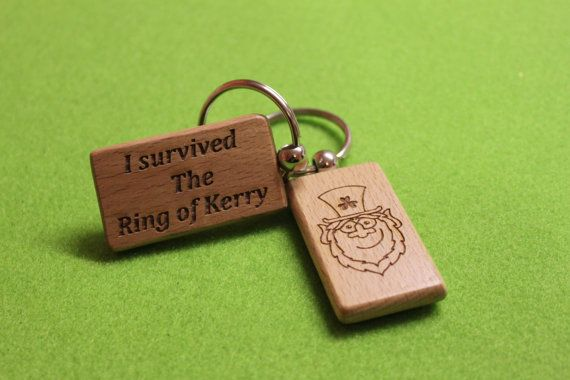 Custom Ring of Kerry Keychain Made in Irish Wooden EIRE
