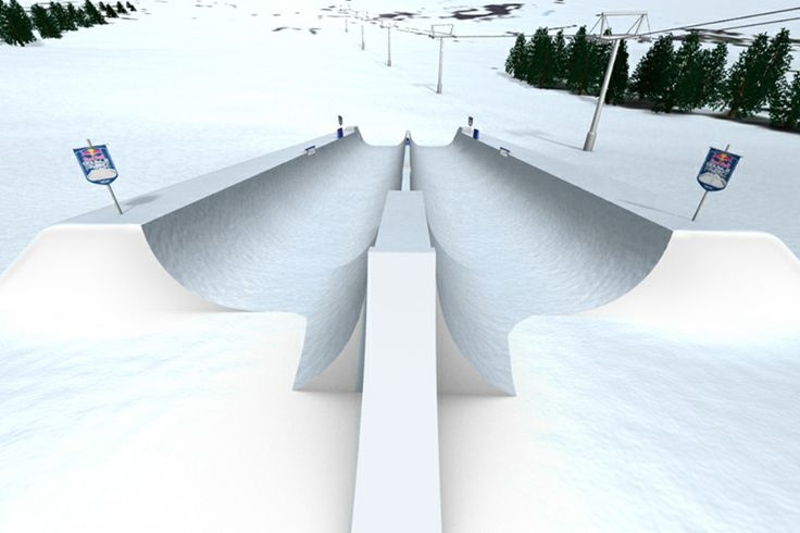 NEW progressive sport events.  Huge double half pipe made by Redbull
