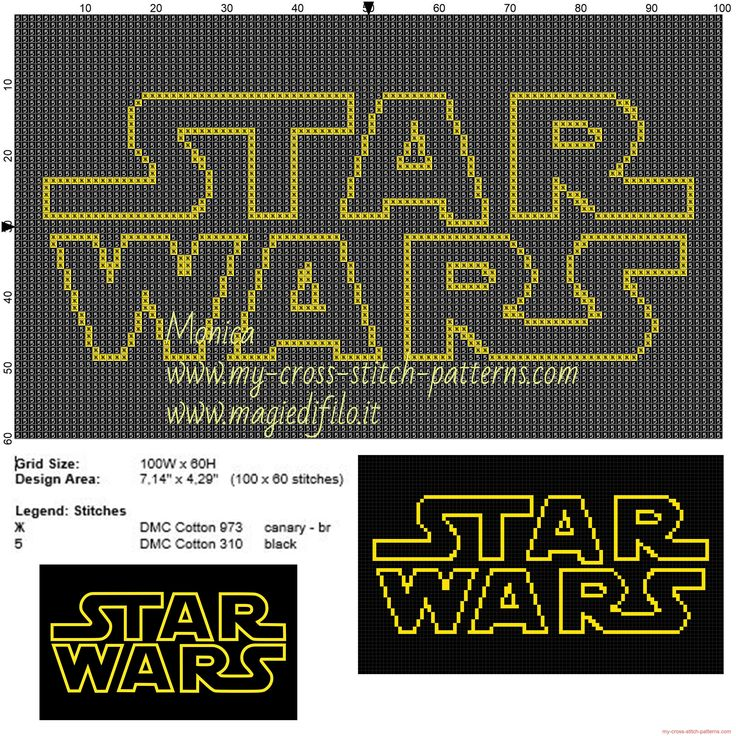 Logo Star Wars cross stitch pattern