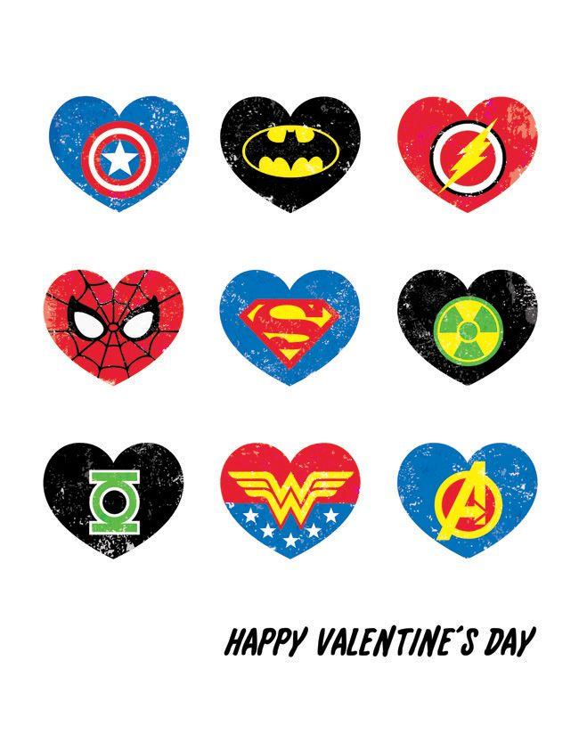 Free Superhero Printables | Super Hero Valentine's Day Printable - Rockin Boys Club