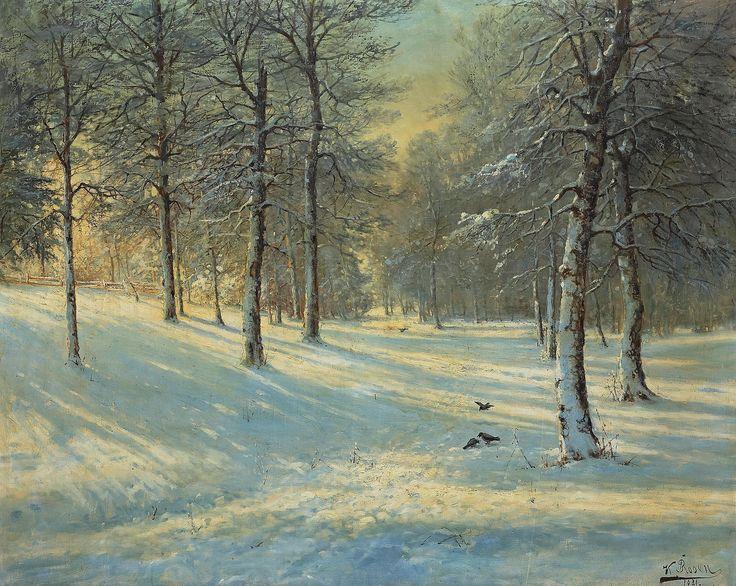 Karl Rosen - Vinterskog Зимний Лес (2965х2362)   . Нажмите для просмотра в полный размер.