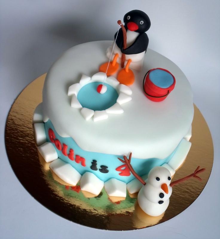 How To Make A Pingu Birthday Cake
