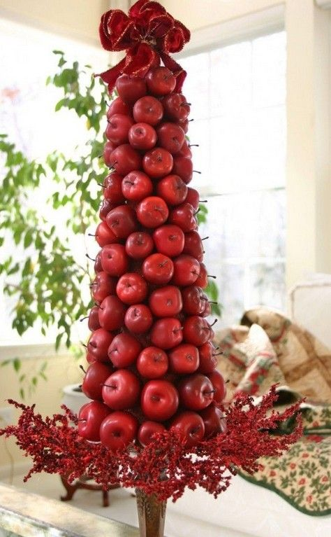 34 best images about peace apple for 2013 christmas eve on for Apple tree decoration