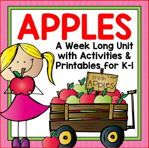 Apple Unit for Kindergarten and First Grade. Includes detailed daily lesson plans and activities that cover science, math, reading, writing, handwriting, art, music and games.