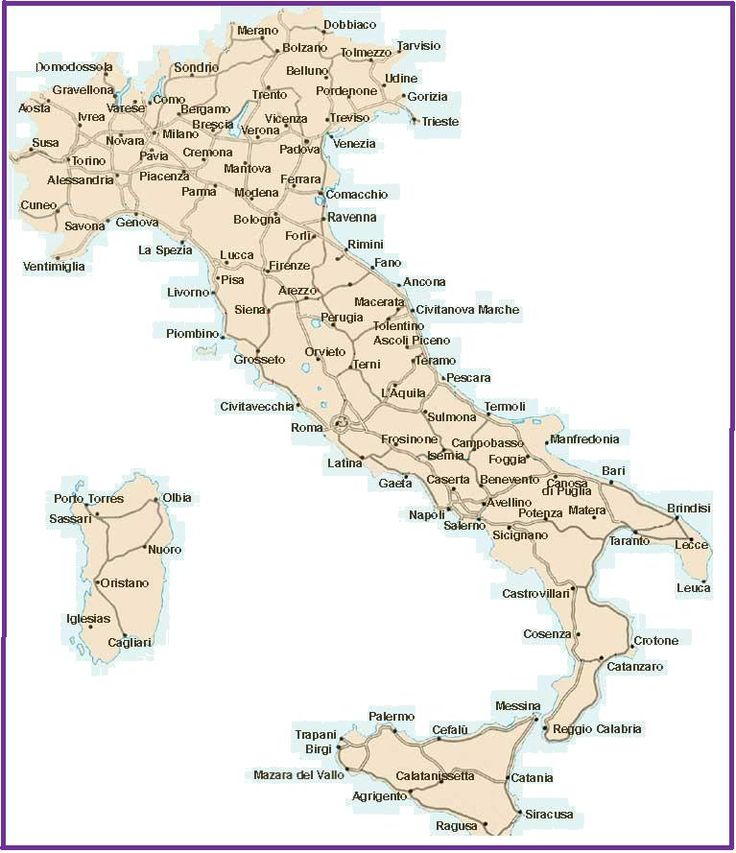 Best 25 Detailed Map Of Italy Ideas On Pinterest France: Road Map Of Italy Detailed At Infoasik.co