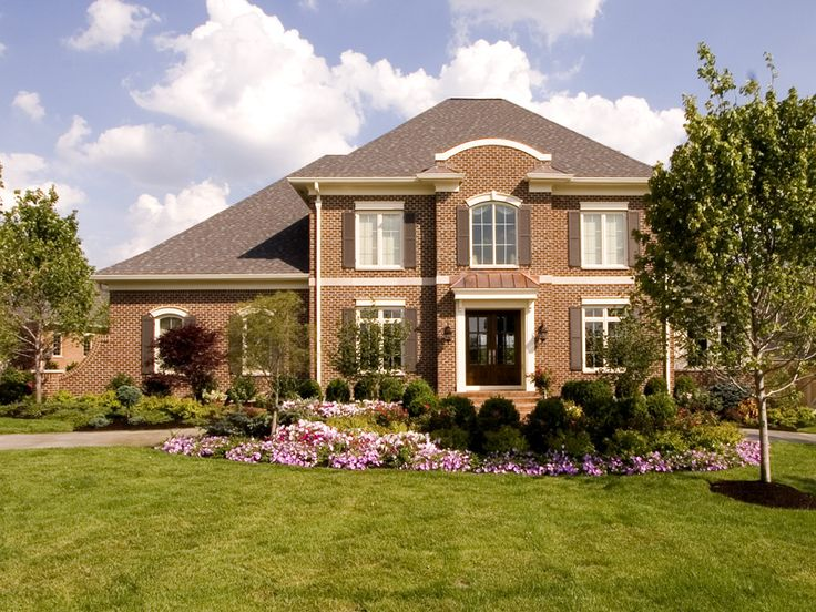 Brick Homes On Pinterest Brick Home Exteriors Beautiful Homes And