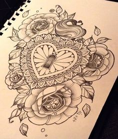 rose clock tattoo black and grey - Buscar con Google