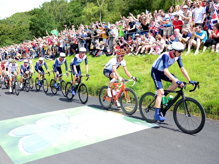 Team Sky | Pro Cycling | Olympic Games | Latest News | Men's road race gallery | The nine circuits of Box Hill shaped the race - Chris Froome paces Team GB in this shot...but who's that in the back ground